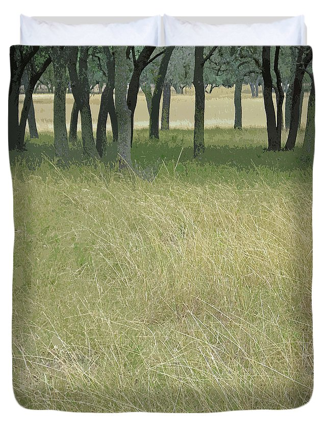Texas Hill Country Framed Print Duvet Cover featuring the photograph Hill Country Calm by Joe Jake Pratt