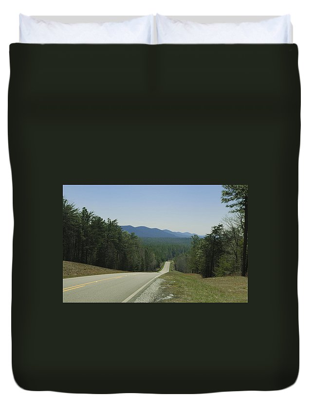 National+forest Duvet Cover featuring the photograph Hills Of Talladega National Forest Alabama by Charles Beeler