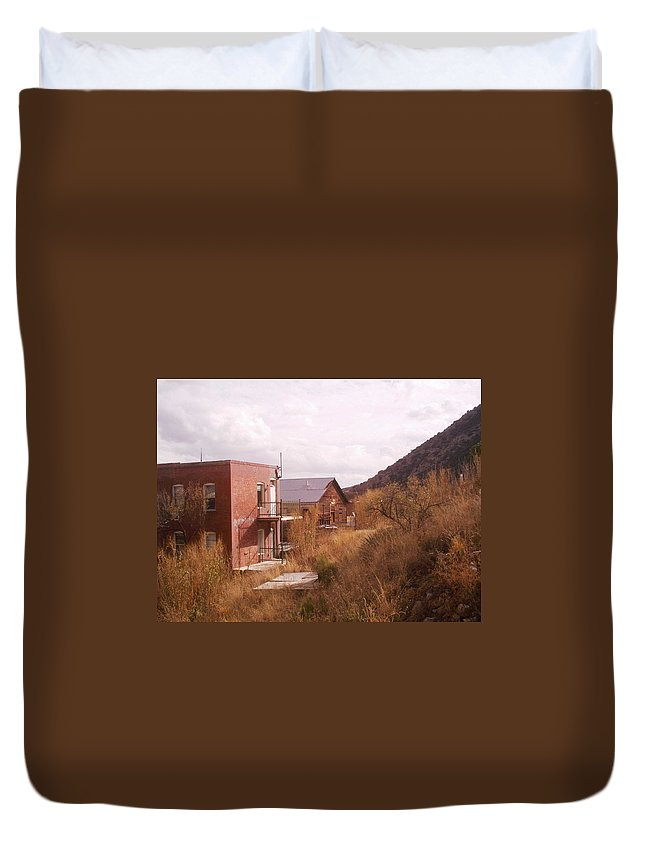 Bisbee Duvet Cover featuring the photograph Hillside by David S Reynolds