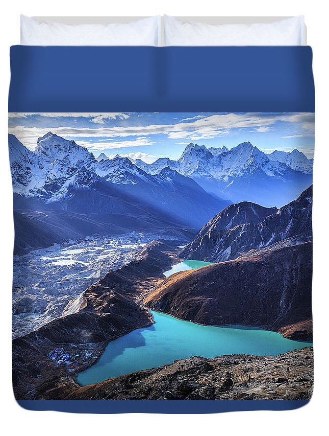 Tranquility Duvet Cover featuring the photograph Himalaya Landscape, Gokyo Ri by Feng Wei Photography