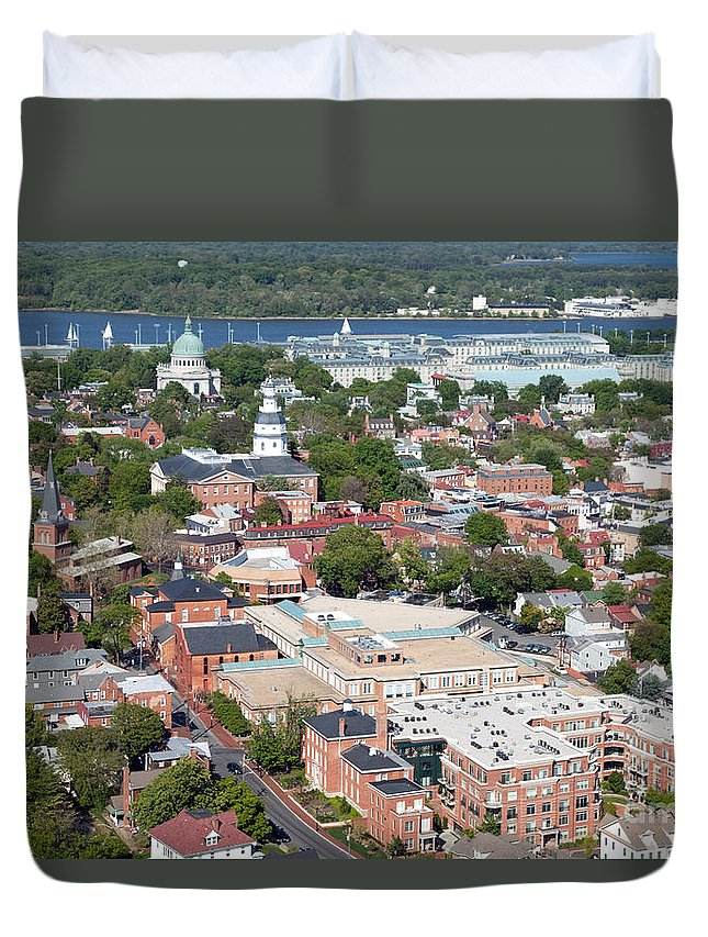 Historic District Duvet Cover featuring the photograph Historic Annapolis Maryland by Bill Cobb