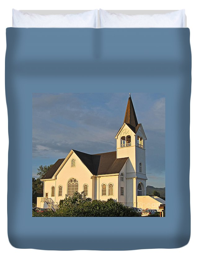 Church Duvet Cover featuring the photograph Historic Country Church Art Prints by Valerie Garner