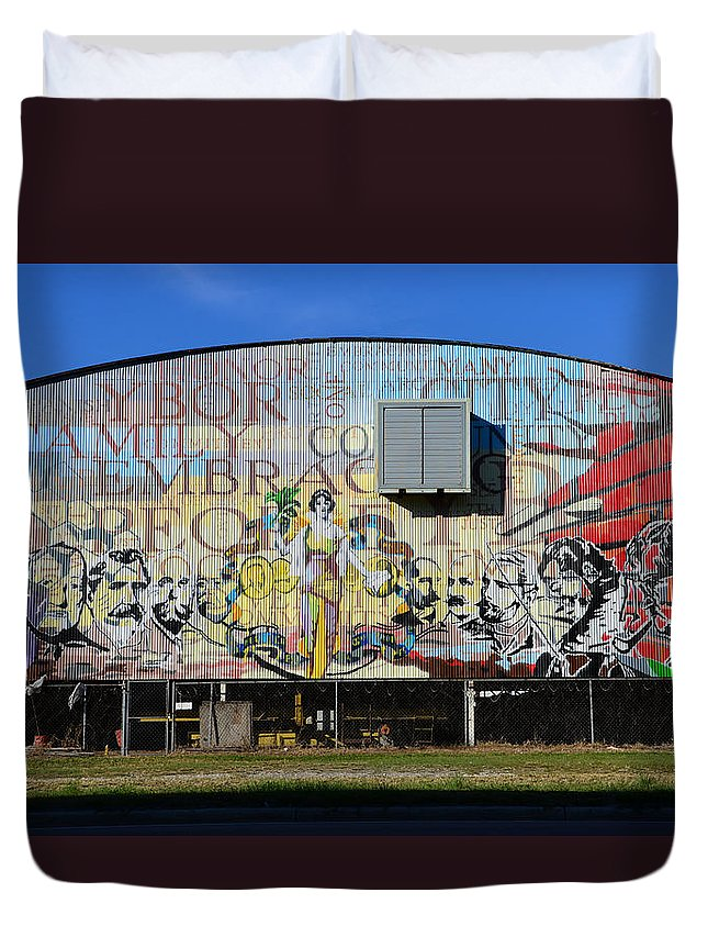 Ybor City Florida Duvet Cover featuring the photograph Historic Faces Of Ybor City by David Lee Thompson