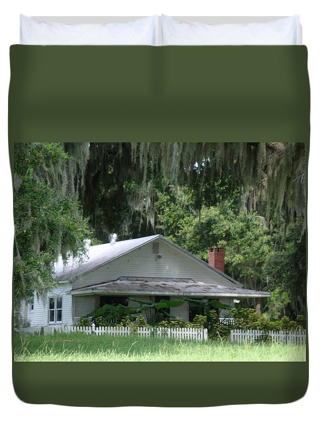 Overstreet Homestead Duvet Cover featuring the photograph Historic Overstreet Homestead Kissimmee Florida by Kim Chernecky