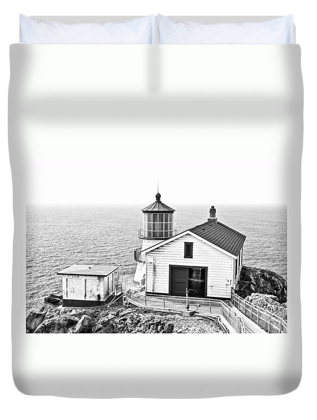 Lighthouse Duvet Cover featuring the photograph Historical Light by Priya Ghose