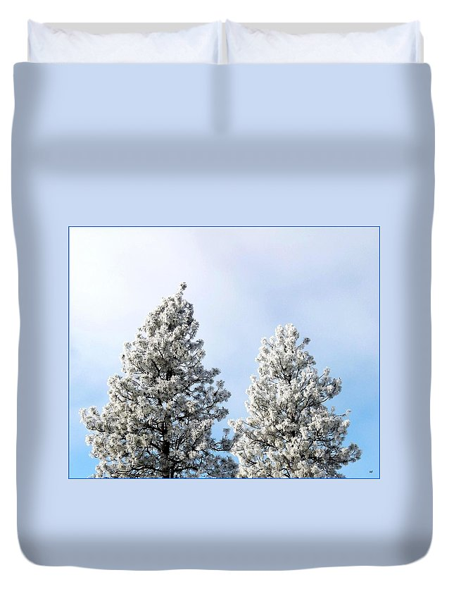 Hoarfrost 21 Duvet Cover featuring the photograph Hoarfrost 21 by Will Borden