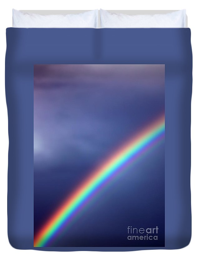 Rainbow Duvet Cover featuring the photograph Hold On For Hope by Amanda Barcon