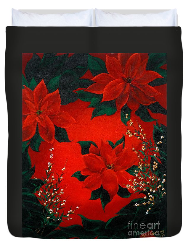 Dlgerring Duvet Cover featuring the painting Holiday Pedals by D L Gerring