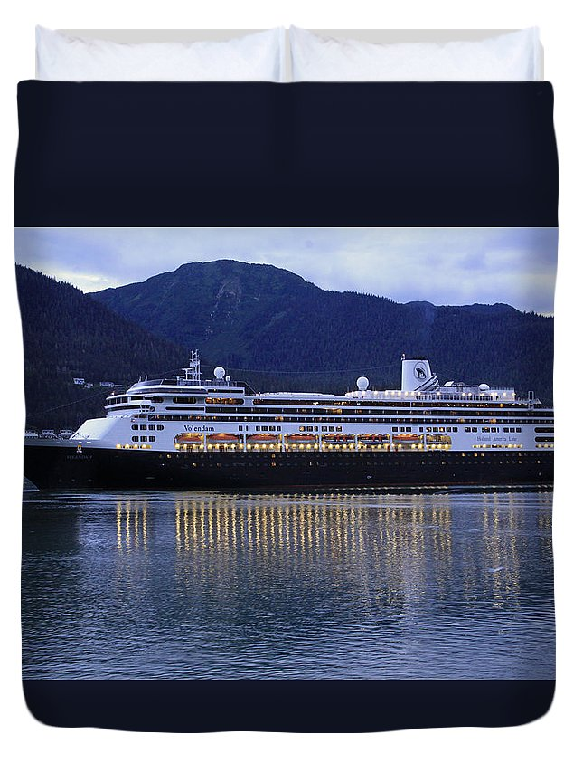 Holland America Duvet Cover featuring the photograph Holland America Volendam by Shoal Hollingsworth