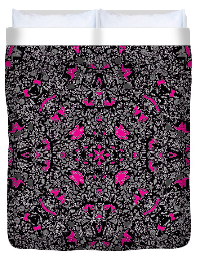 Kaleidoscope Duvet Cover featuring the digital art Hollywood Hills by Joy McKenzie