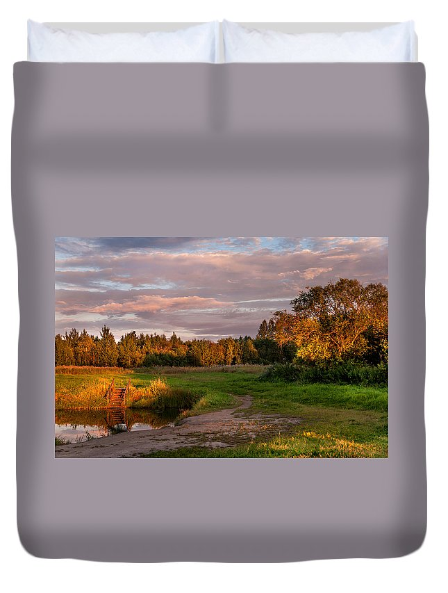 Landscape Duvet Cover featuring the photograph Holy Source 3. Karelia by Jenny Rainbow
