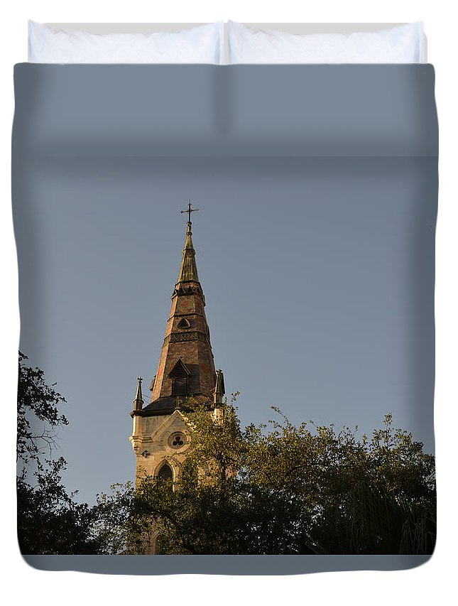 Architecture Duvet Cover featuring the photograph Holy Tower  by Shawn Marlow