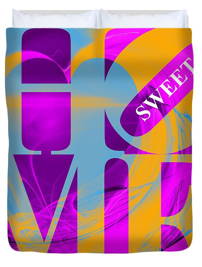 Wingsdomain Duvet Cover featuring the digital art Home Sweet Home 20130713 Fractal Heart V1 by Wingsdomain Art and Photography