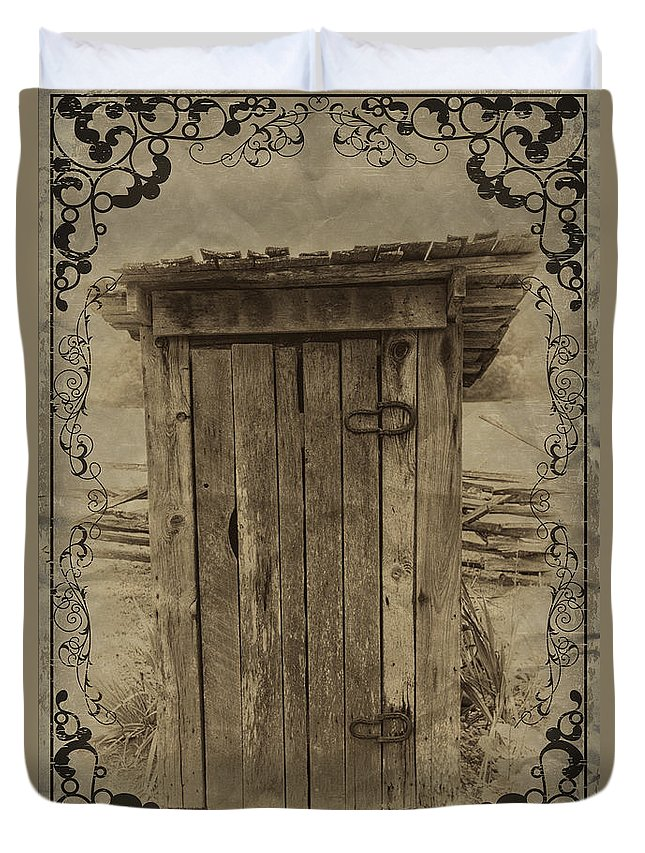 Outhouse Duvet Cover featuring the photograph Home Sweet Home by John Haldane