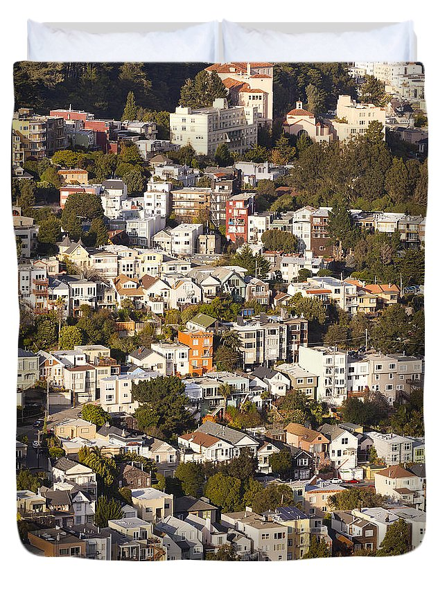 San Francisco Duvet Cover featuring the photograph Homes Of San Francisco by B Christopher