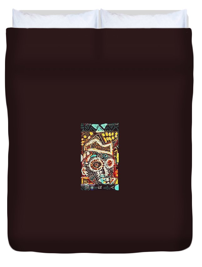 -crown Duvet Cover featuring the digital art Homescreen by Kamoni Khem