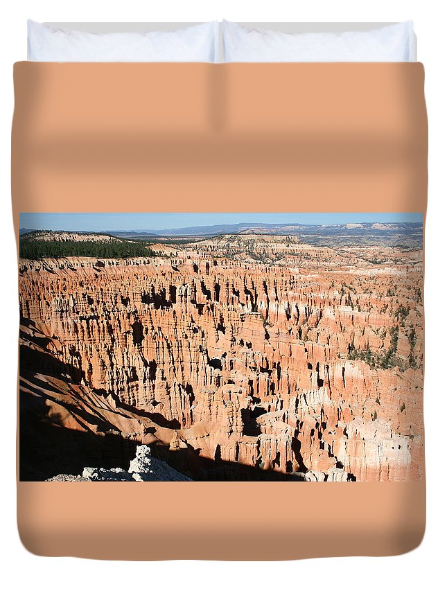 Canyon Duvet Cover featuring the photograph Hoodoos Of Bryce Canyon by Christiane Schulze Art And Photography