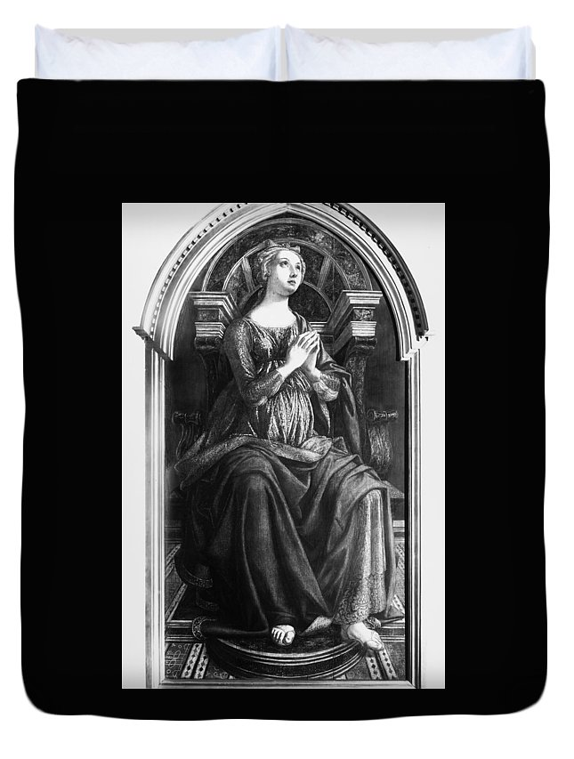15th Century Duvet Cover featuring the painting Hope, 15th Century by Granger