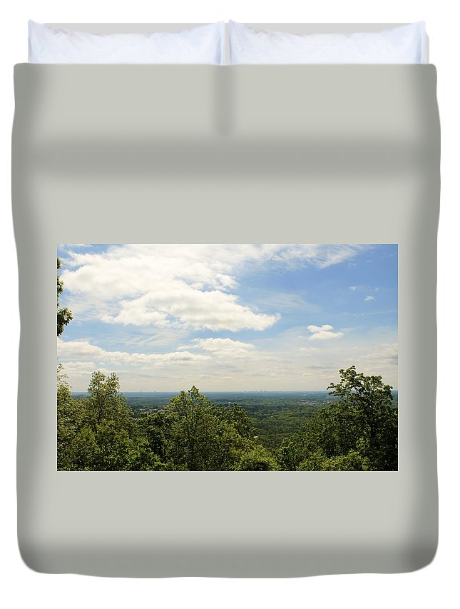 View Duvet Cover featuring the photograph Horizon Landscape by Mary Koval