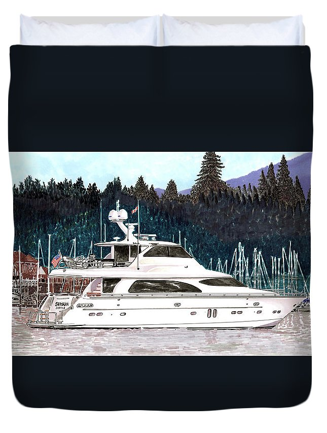 Horizon My Duvet Cover featuring the painting Vancouver Rowing Club by Jack Pumphrey