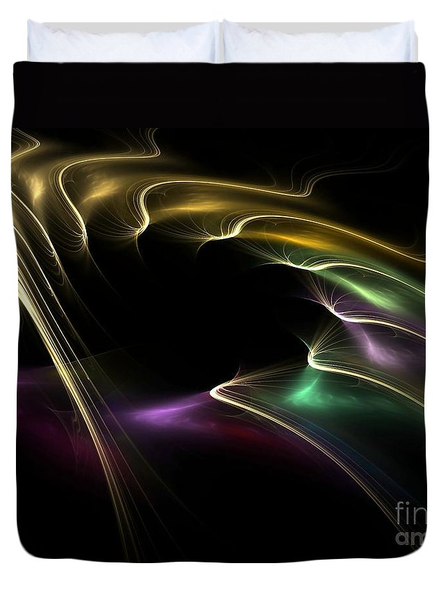 Digital Duvet Cover featuring the digital art Horse Of A Different Color by Greg Moores
