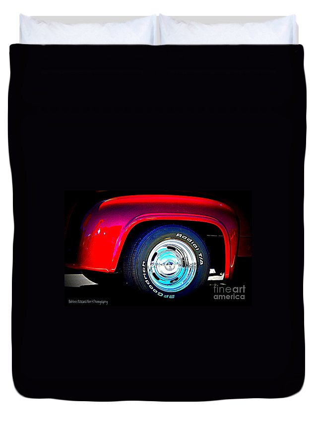 Fenders Duvet Cover featuring the photograph Hot Fenders by Bobbee Rickard