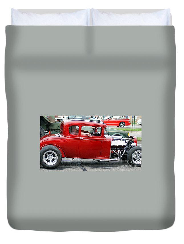 Old Cars Duvet Cover featuring the photograph Hot Rod by Optical Playground By MP Ray