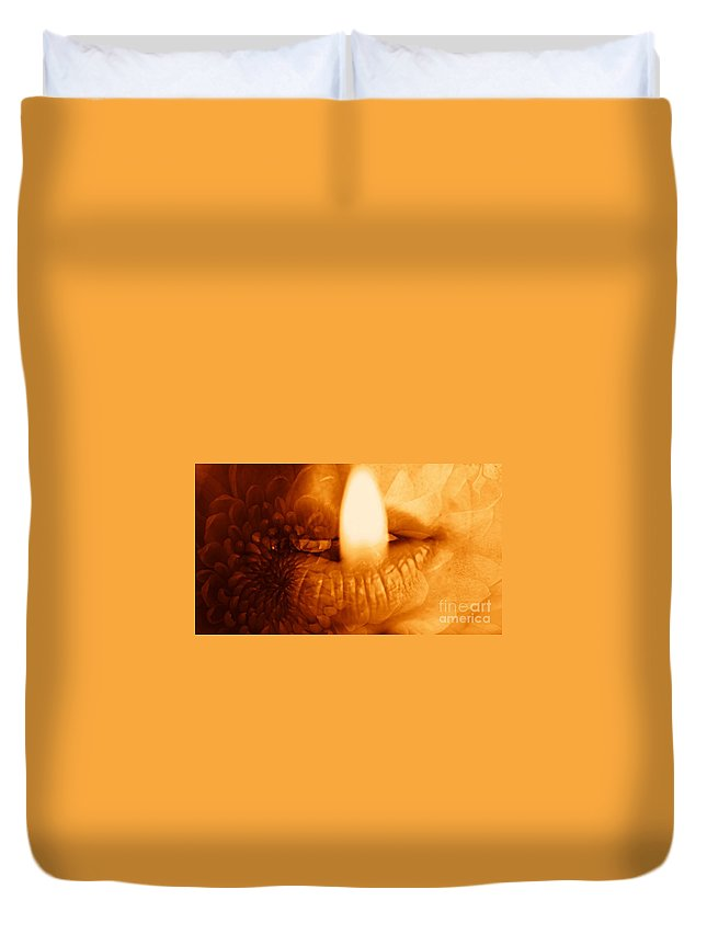 Duvet Cover featuring the photograph Hot Spot by Jessica Shelton