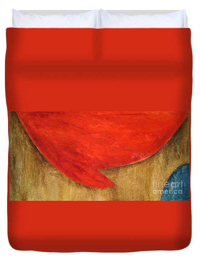 Abstract Duvet Cover featuring the painting Hot Spot by Silvana Abel