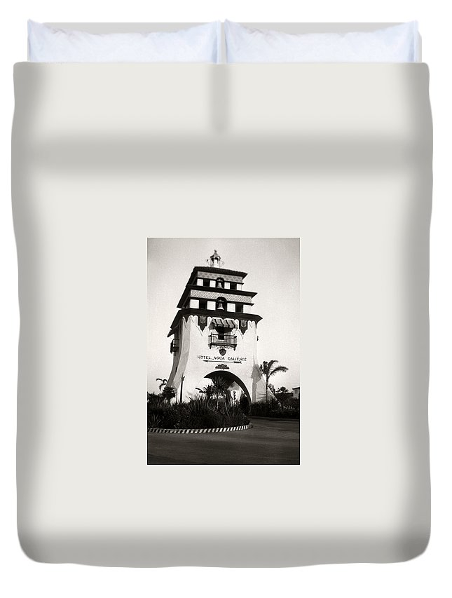 Hotel Duvet Cover featuring the photograph Hotel Agua Caliente Mexico by Marilyn Hunt