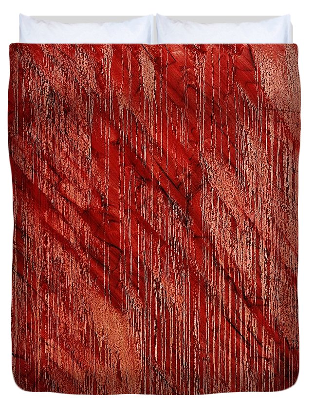Abstract Duvet Cover featuring the painting Hotel California by Wayne Cantrell