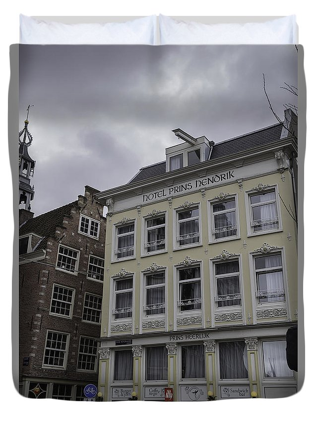 2014 Duvet Cover featuring the photograph Hotel Prins Hendrick Amsterdam by Teresa Mucha