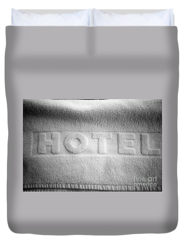 Accommodation Duvet Cover featuring the photograph Hotel Towel by Michal Bednarek