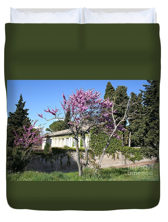 House Duvet Cover featuring the photograph House In The Provence by Christiane Schulze Art And Photography