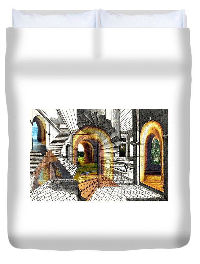House Duvet Cover featuring the digital art House Of Dreams by Lisa Yount