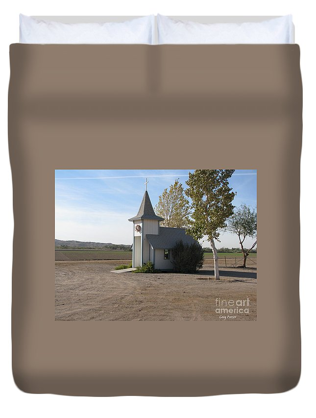 Patzer Duvet Cover featuring the photograph House Of The Lord by Greg Patzer