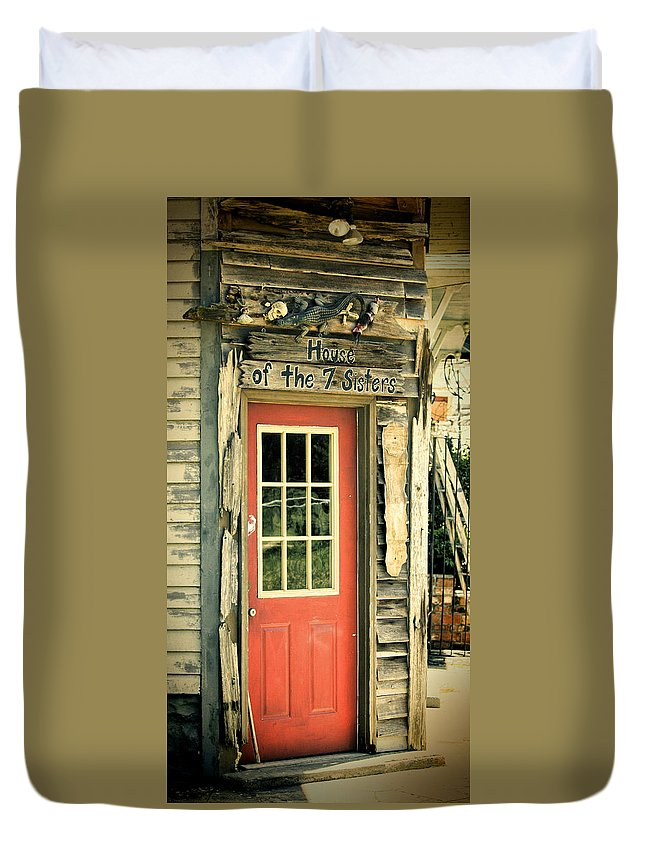 City Duvet Cover featuring the photograph House Of The Seven Sisters by Joan Carroll