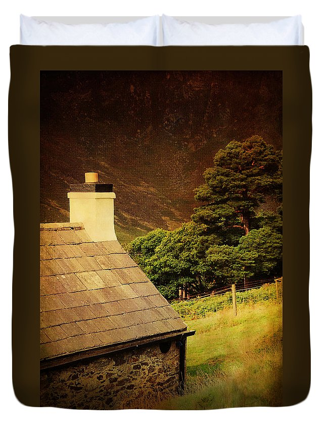 Ireland Duvet Cover featuring the photograph House On The Hills. Wicklow. Ireland by Jenny Rainbow