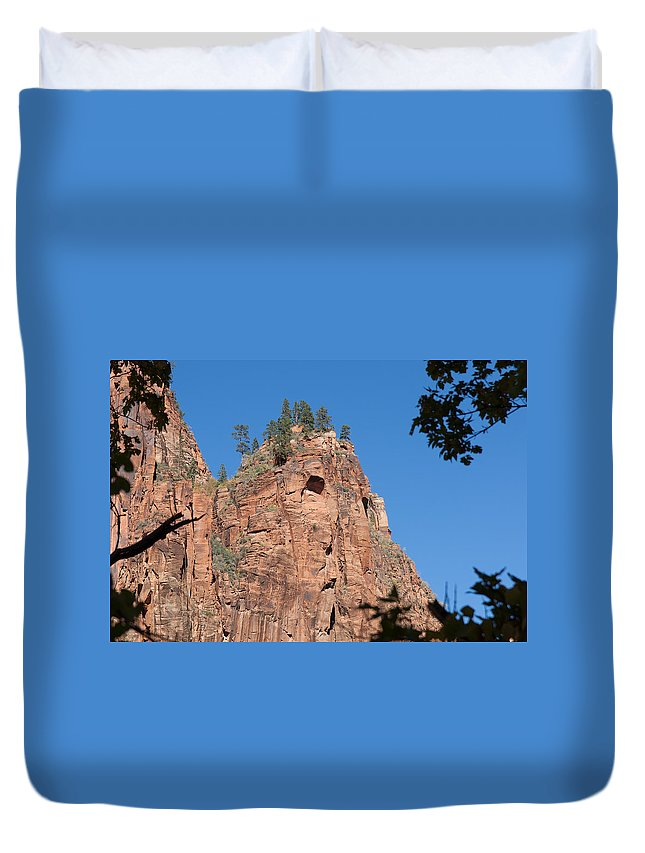 Landscape Duvet Cover featuring the photograph Howling Mountain by John M Bailey