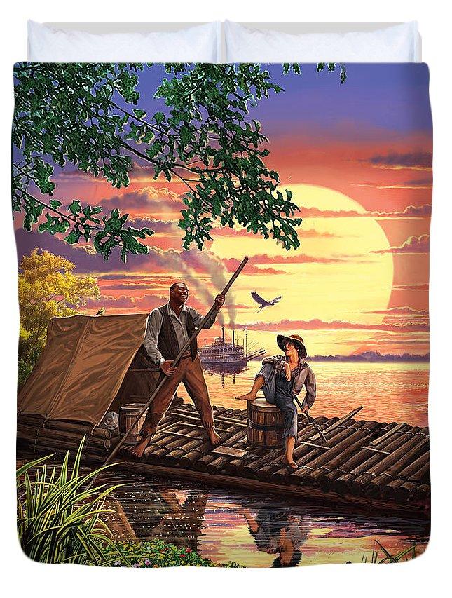 Steve Crisp Duvet Cover featuring the photograph Huck Finn Variant 1 by Steve Crisp