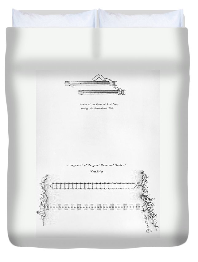 1778 Duvet Cover featuring the photograph Hudson River: Chain, C1778 by Granger