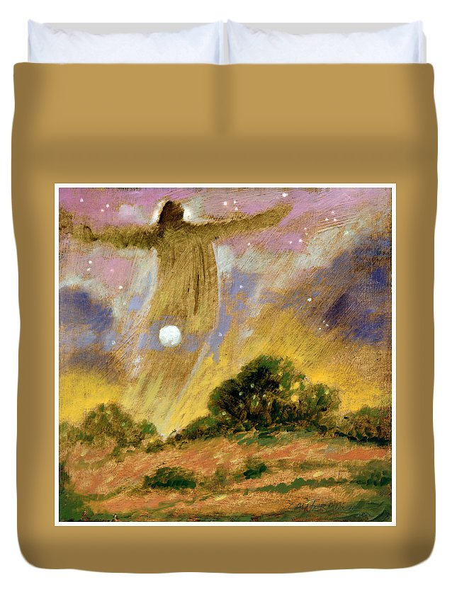 Spirit Duvet Cover featuring the painting Human Spirit by John Lautermilch