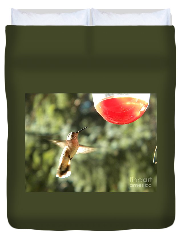Hummingbird Duvet Cover featuring the photograph Hummingbird 2 by Nathanael Smith