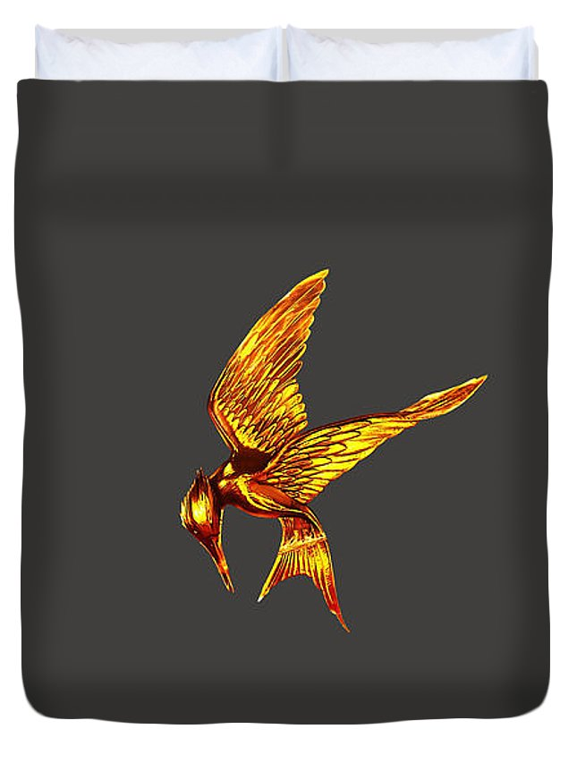 Movie Poster Duvet Cover featuring the mixed media Hunger Games by Marvin Blaine