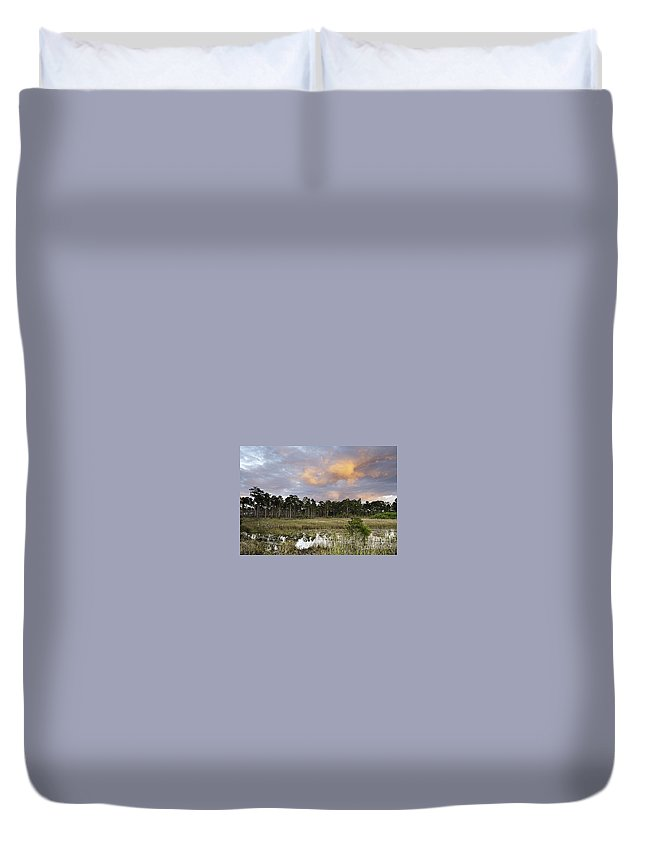Hungryland Duvet Cover featuring the photograph Hungryland Sky by Bruce Bain