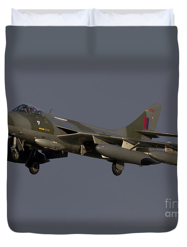 Hawker Hunter Duvet Cover featuring the photograph Hunter by J Biggadike