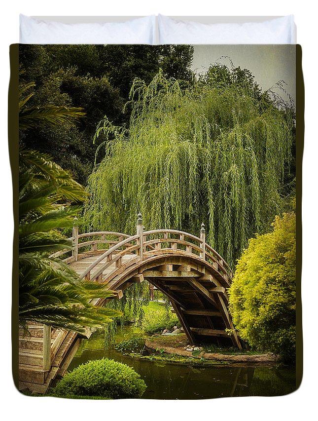 Huntington Japanese Garden Duvet Cover featuring the photograph Huntington Japanese Garden No 3 by Belinda Greb