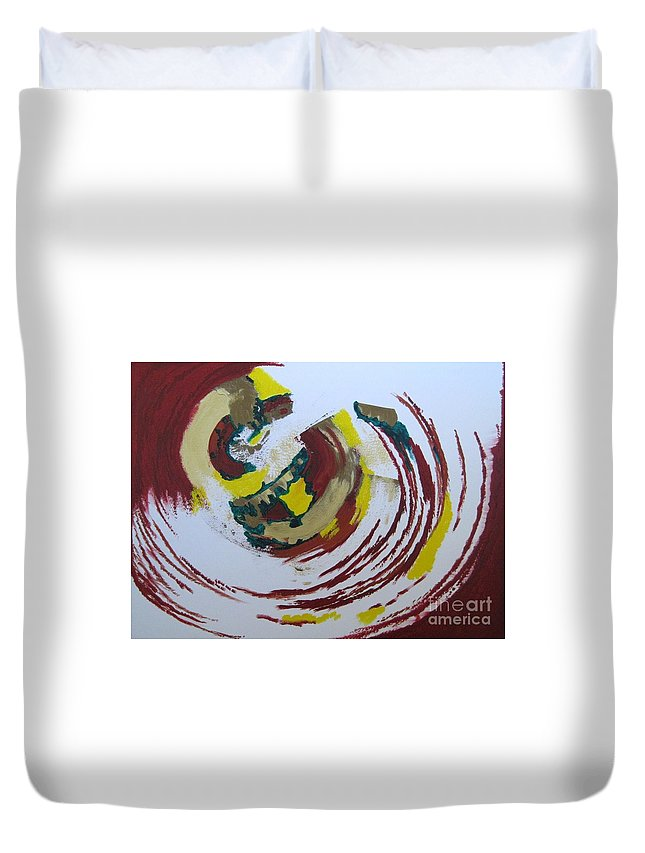 Water Duvet Cover featuring the painting Hurricane by Zoe Vega Questell