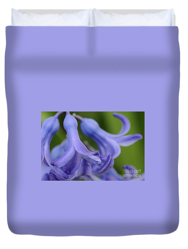Photography Duvet Cover featuring the photograph Hyacinth Closeup by Larry Ricker