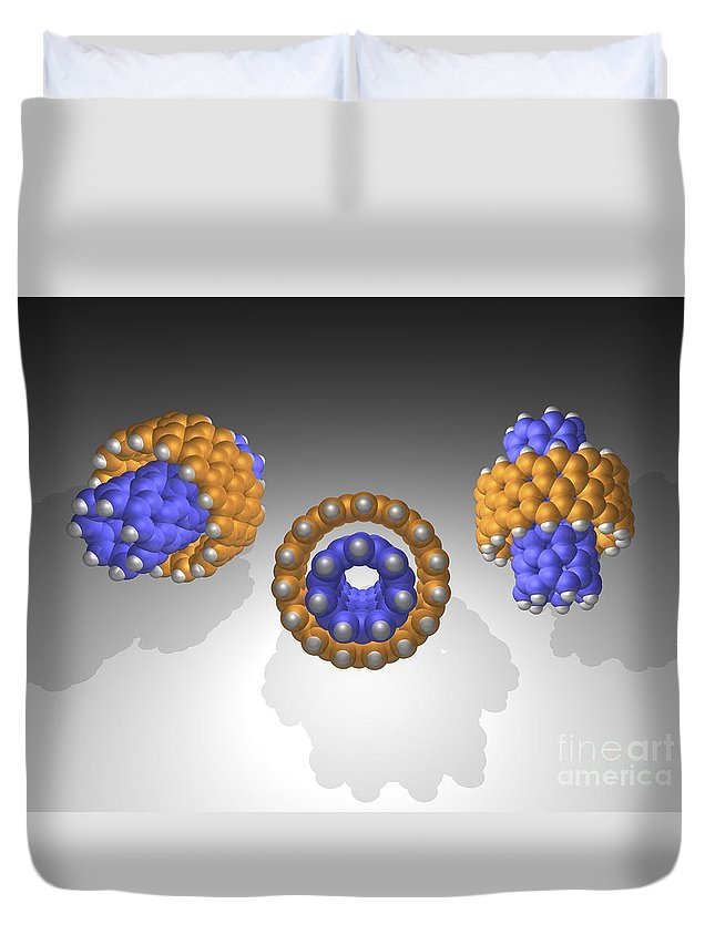 Hydrocarbon Duvet Cover featuring the photograph Hydrocarbon-based Nanotechnology by Scott Camazine